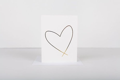 Wrinkle and Crease Lewiston Heart Greeting Card