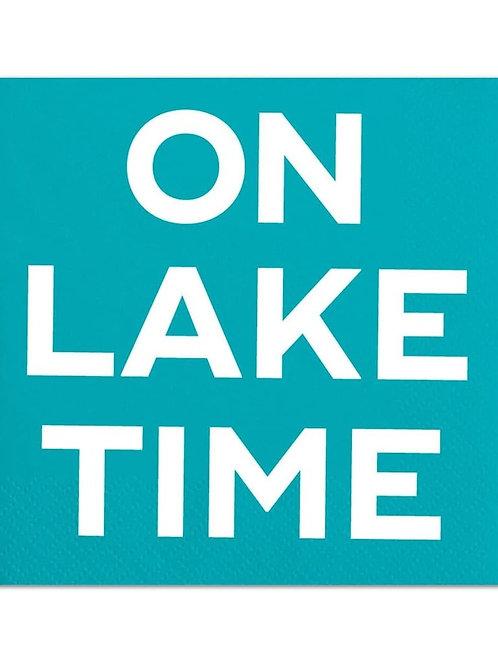 On Lake Time Napkin