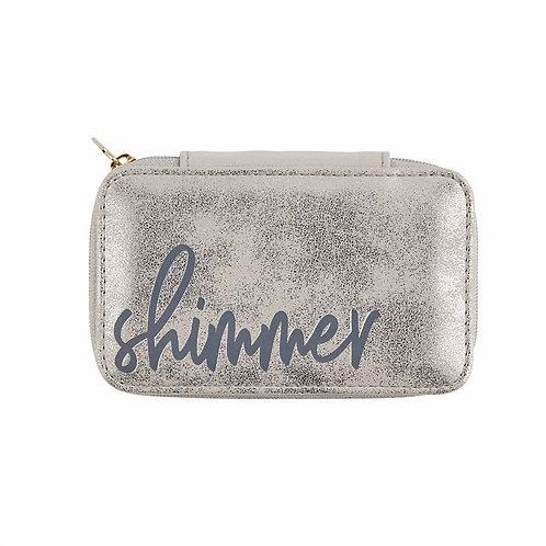 Mudpie Mini Shimmer Gold Jewelry Case
