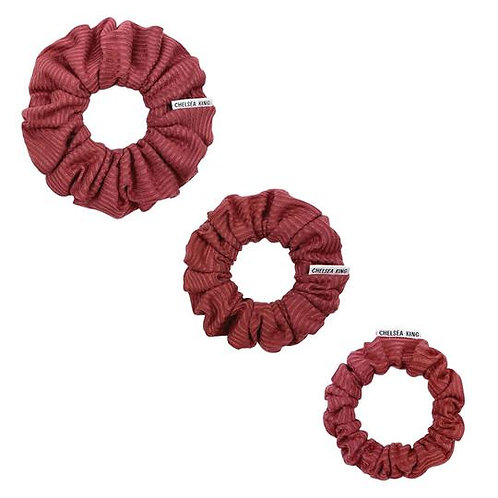 Chelsea King Scrunchie - Ribbed Mulberry