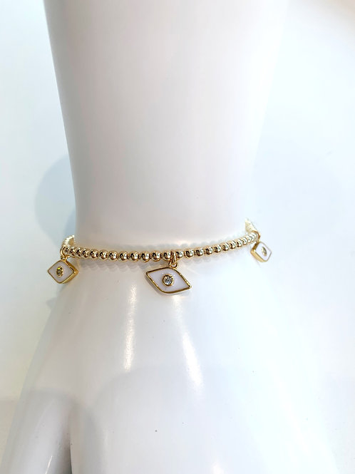 Jocelyn Kennedy Evil Eye Charm Bracelet