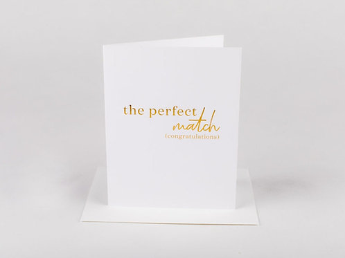 Wrinkle and Crease The Perfect Match Card