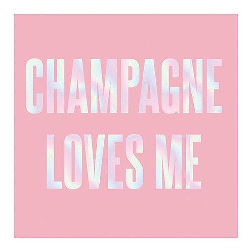 Slant Champagne Loves Me Napkins