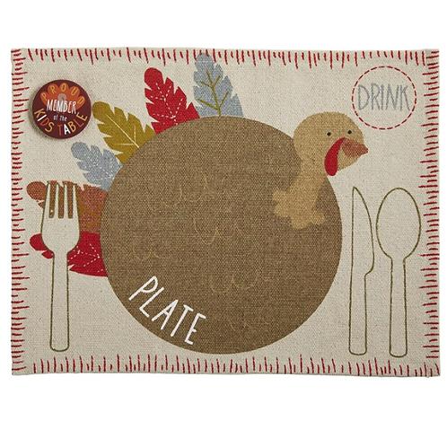 Mudpie Turkey Placemat