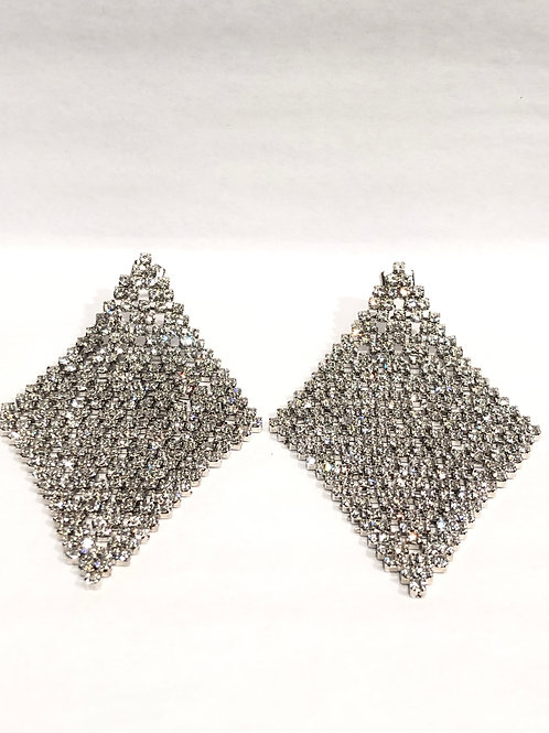 Jocelyn Kennedy Large Crystal Carpet Earrings