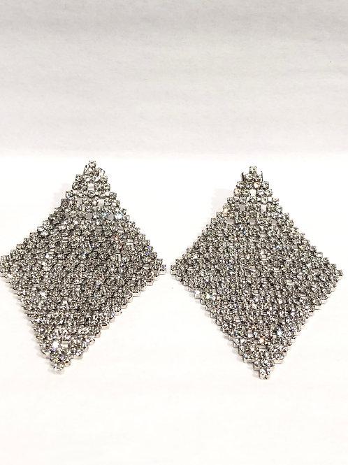 Jocelyn Kennedy Large Crystal Carpet Earrings