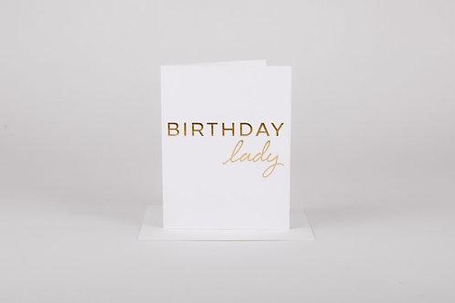 Birthday Lady Card