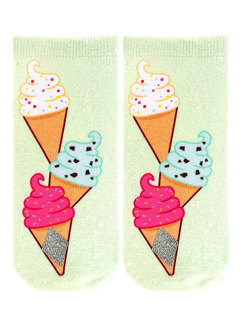 Living Royal Glitter Ice Cream Ankle Sock