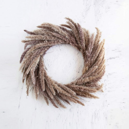 Natural Dried Reed Wreath