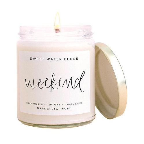 Sweet Water Decor Weekend Candle