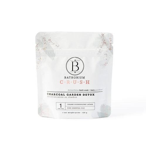 Bathorium Charcoal Garden Detox Crush Bath Soak