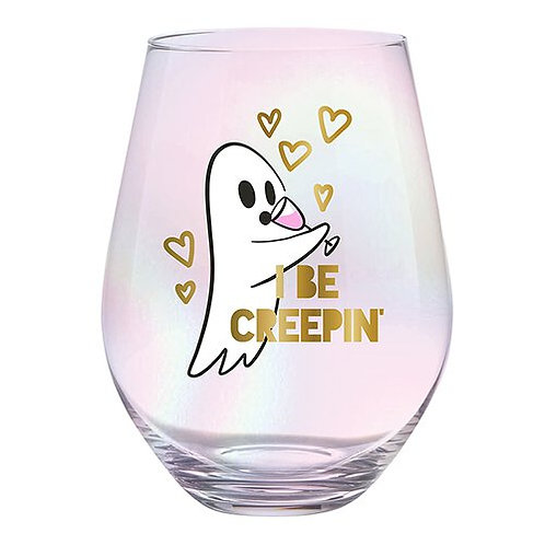 Jumbo Wine Glass- I Be Creepin