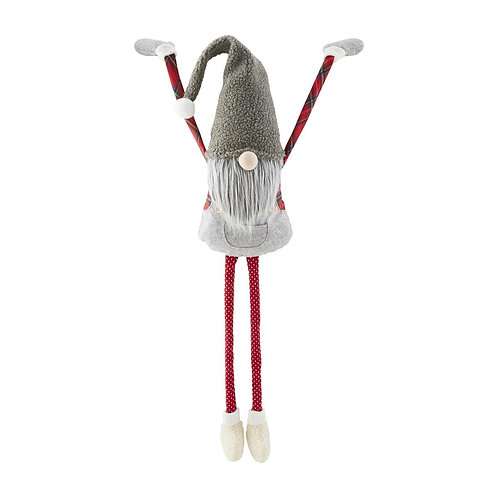 Mudpie Large Dangle Gnome Grey