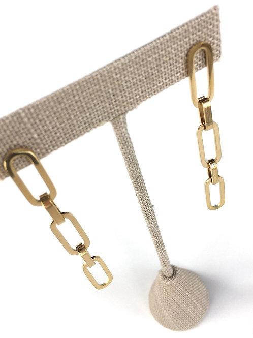 Jocelyn Kennedy Paper Clip Chain Earrings