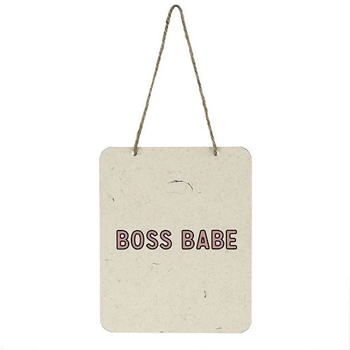 Boss Babe Hanging Small Sign