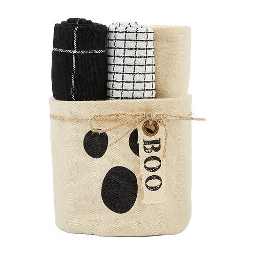 Mudpie Boo Towel Set
