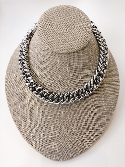"Jocelyn Kennedy 16"" Chunky Chain Necklace- Silver"