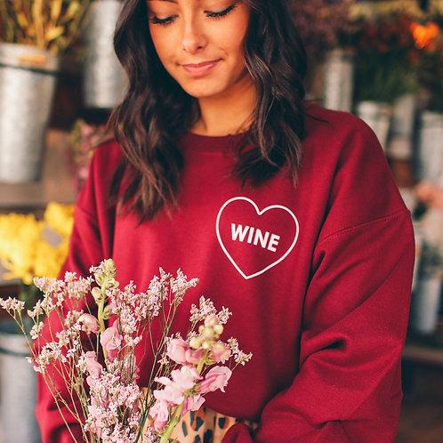 Friday + Saturday: Wine Sweatshirt