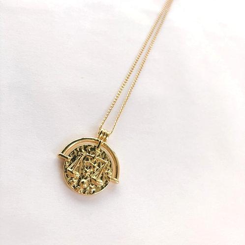 Jocelyn Kennedy Zodiac Sign Necklace- Gold Libra