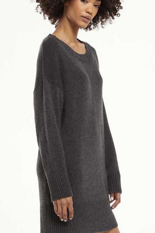 Z SupplyBaldwin Sweater Dress-Heathered Black