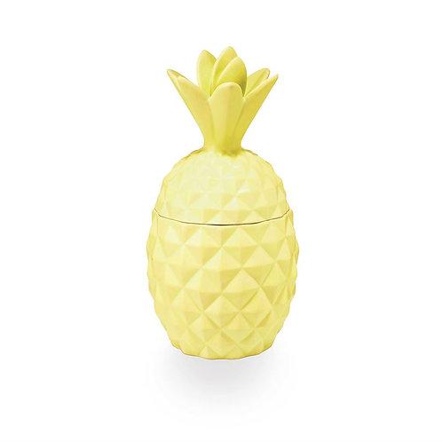 Illume Pineapple Cilantro Ceramic Pineapple Candle
