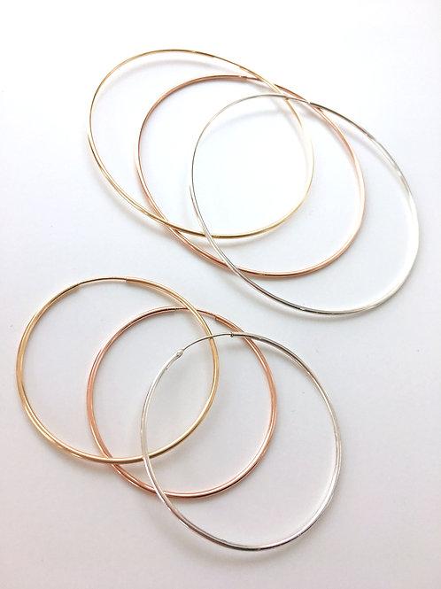 Jocelyn Kennedy Metal Hoops Earrings
