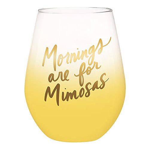 Mornings are for Mimosas Jumbo Glass