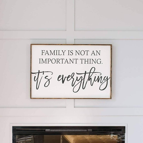 William Rae Family Is Not An Important Thing Wood Sign Dark Walnut