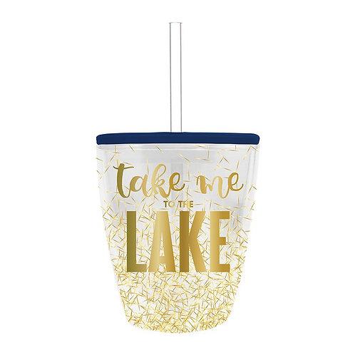 Take Me To The Lake Glitter Tumbler