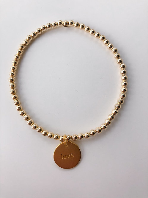 Jocelyn Kennedy Beaded Word Bracelet- Love