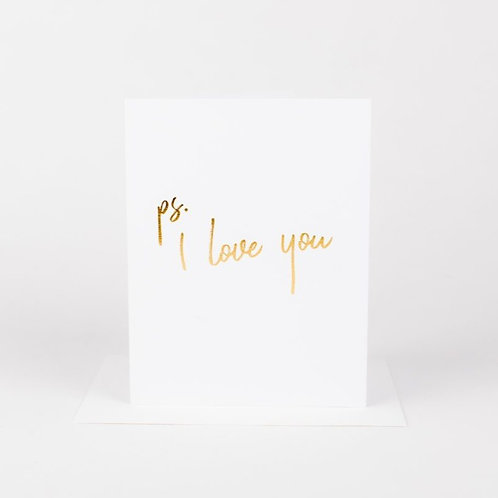 Wrinkle and Crease PS. I Love You Card
