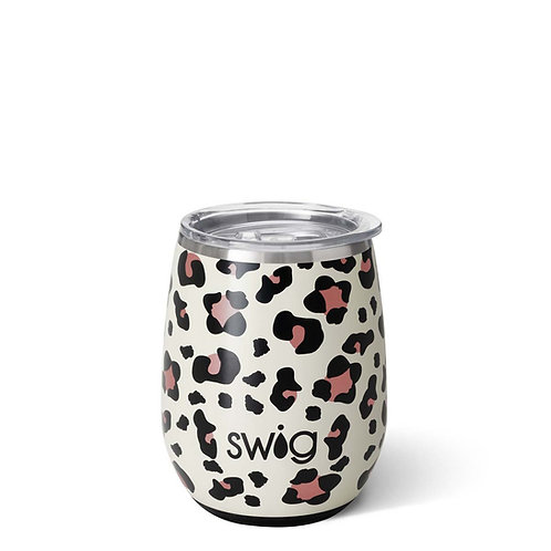 Swig Stemless Wine Luxy Leopard