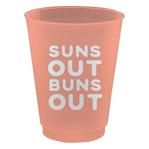 Sun Out Buns Out Cups- Set of 8
