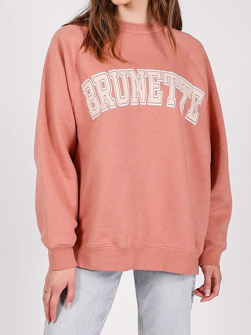 Brunette The Label Brunette Not Your Boyfriends Crew Rose Blus