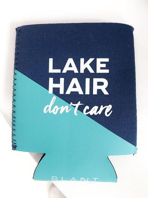 Lake Hair Don't Care Can Koozie