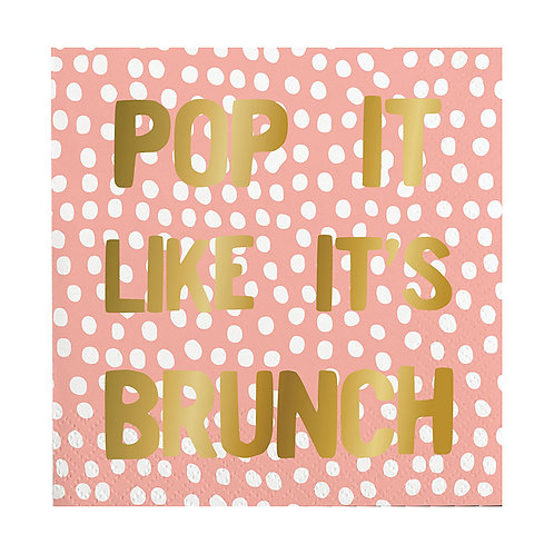 Slant Pop It Like It's Brunch Cocktail Napkin