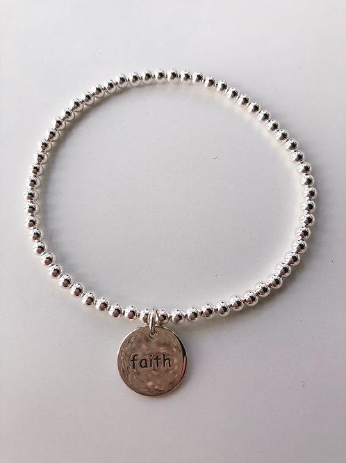 Jocelyn Kennedy Beaded Word Bracelet- Faith
