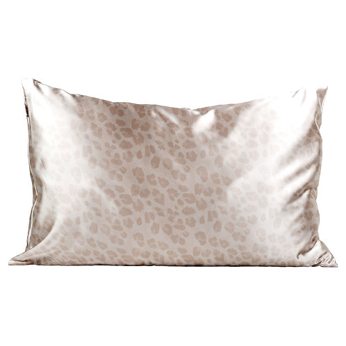 Kitsch Standard Satin Pillow Case- Leopard