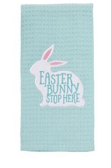 Mud Pie Easter Bunny Stop Here Hand Towel