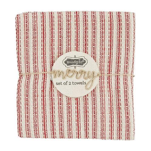 Mudpie Merry Set of 2 Towels