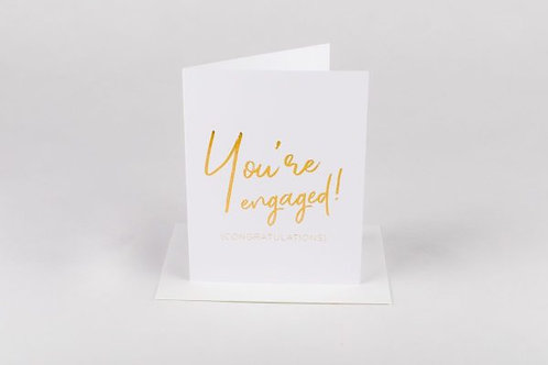 Wrinkle And Crease You're Engaged Card