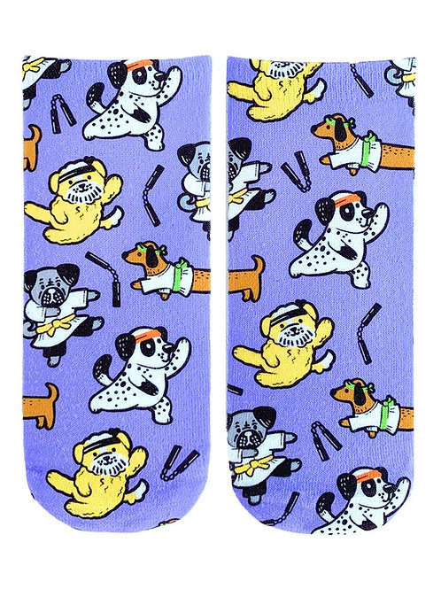 Living Royal Karate Dogs Ankle Socks