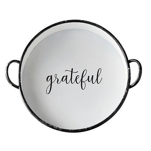 Round Grateful Tray