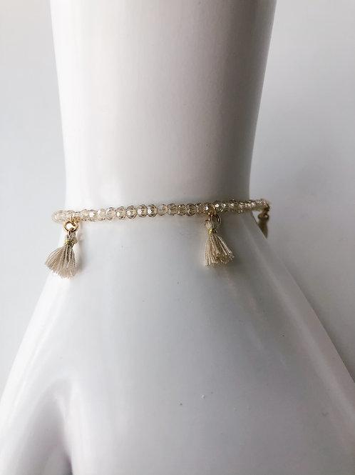 Jocelyn Kennedy Light Champagne Tassel Bracelet