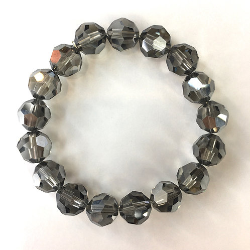 Jocelyn Kennedy Large Dark Grey Crystal Bracelet