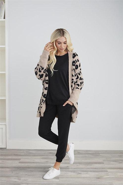 Shylah Tan Leopard Cocoon Cardigan