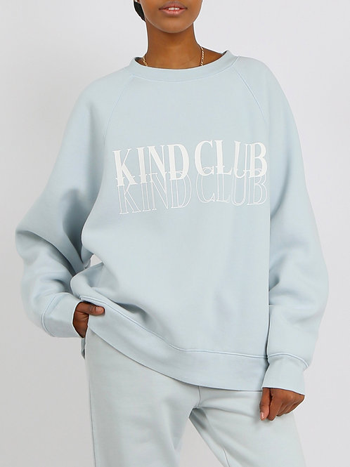 Brunette The Label The Kind Club Not Your Boyfriends Sweater Summer Sky