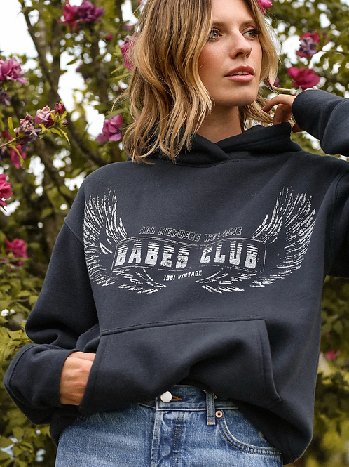 Brunette The Label Welcome To The Babes Club Step Sister Hoodie