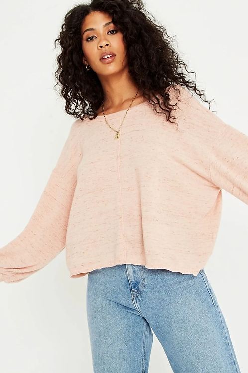Project Social T Major Crush Back V Cozy Sweater