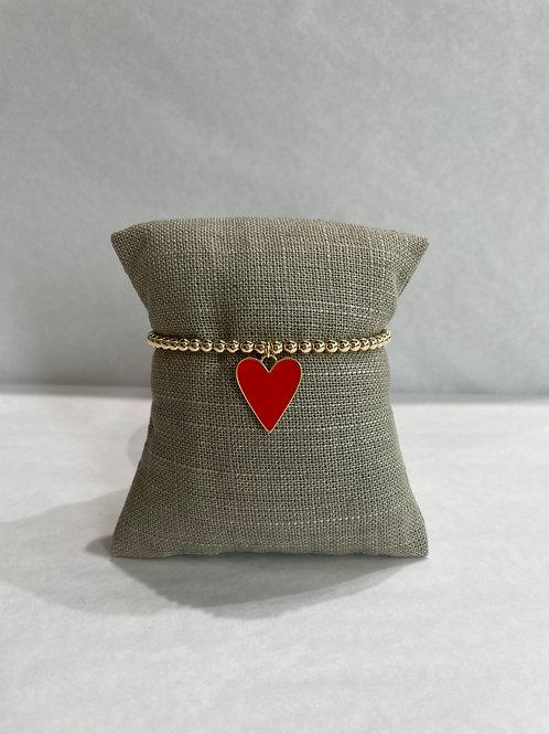 Jocelyn Kennedy Large Enamel Heart 4mm Beads